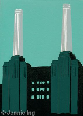 Battersea Power Station (turquoise)