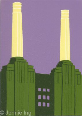Battersea Power Station (chartreuse)