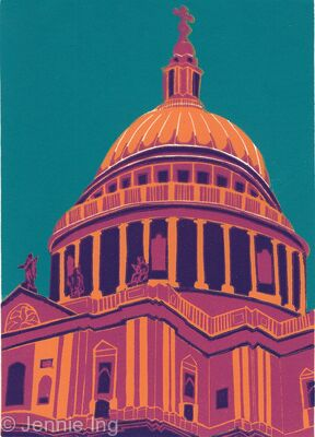 St Paul's Cathedral (magenta II)