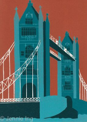 Tower Bridge (teal)