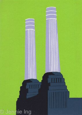 Battersea's Chimneys (charcoal)