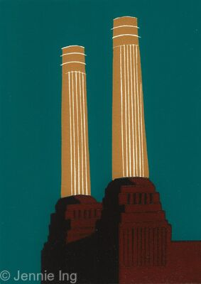 Battersea's Chimneys (sinopia)
