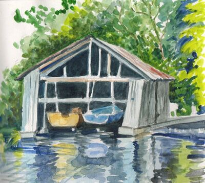 Boathouse, North Hatley 8/9.VIII.09