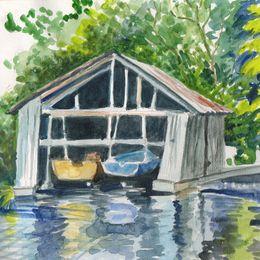 Boathouse, North Hatley 8/9.VIII.09