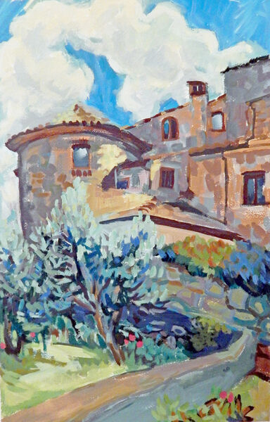 The Tower with Olive Grove