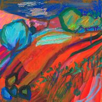Red Furrows and Trees