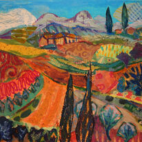 Pattern Landscape (Homage to Matisse)