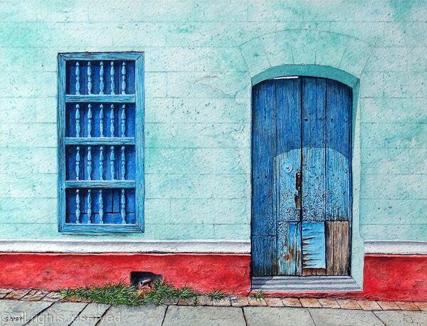 Door with Woodworm, Cuba