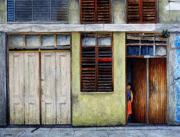 Peeping Out, Cienuegos, Cuba