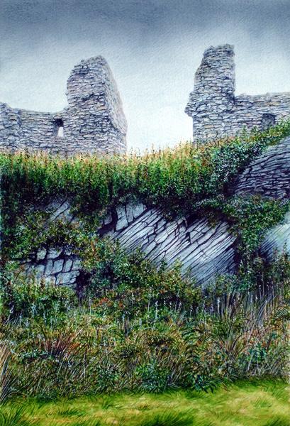 Landscape at Dundrum Castle