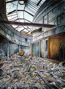 Arson Attack, North Street Arcade, 2004
