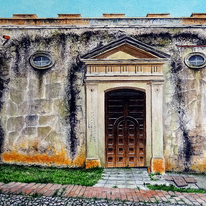 Church Wall, Trinidad, Cuba