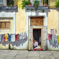 WASHING LINES, Havana, Cuba