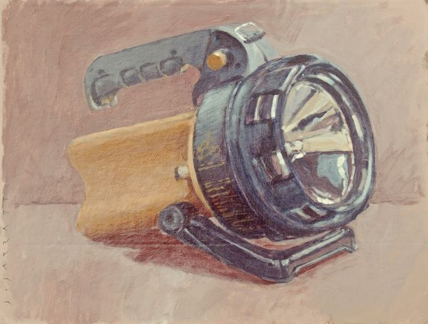 Acrylic sketch of a torch