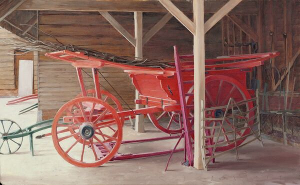 The red wagon at Home Farm, Wimpole Hall.