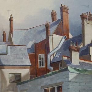 Sunlit chimneys
