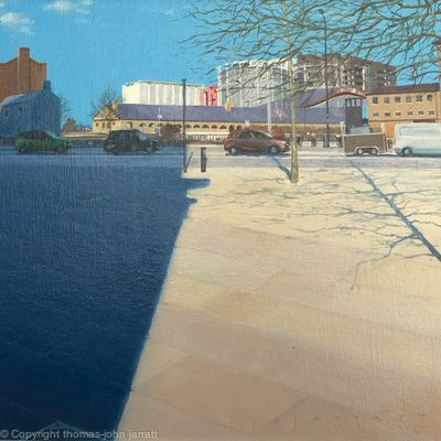 Big shadow at Granary Square, Kings Cross