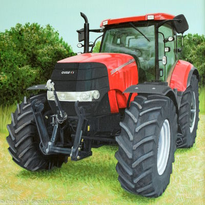 Case Puma Tractor Style Painting