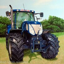 New Holland T7 Style Tractor Painting
