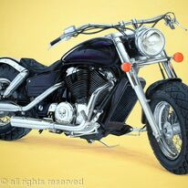 'Freedom' Motorbike Painting