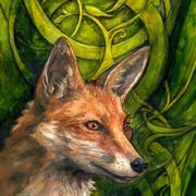 Bold Undaunted Fox ~ ( Ace Of Wands )