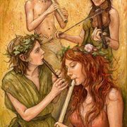 KIng Of The Faeries  ~ ( The Four Of Wands )