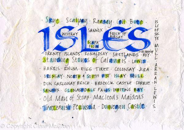 Isles of Scotland Original Calligraphy