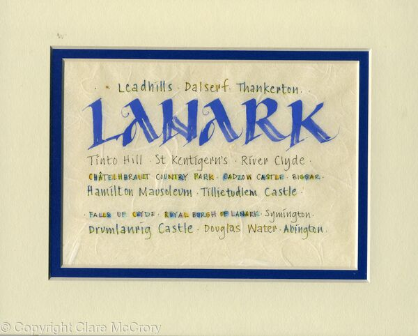 Original Calligraphy - Lanark