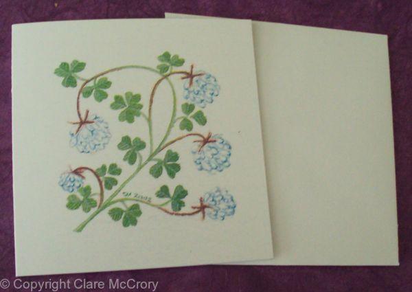 Clover card floral card birthday card