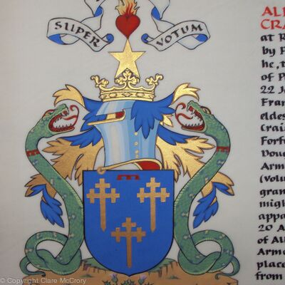 Supporter coat of the Arms of Alexander Rattray of Craighall-Rattray and of that Ilk, younger