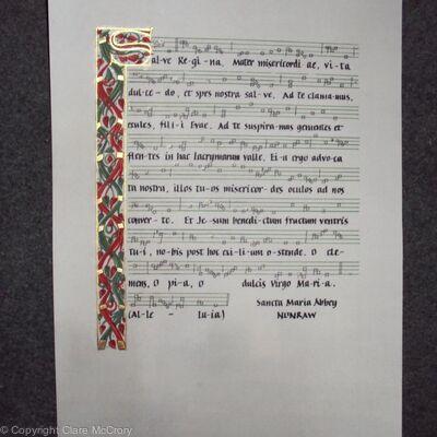 Illuminated Salve Regina for Joseph John Morrow, Lord Lyon King of Arms