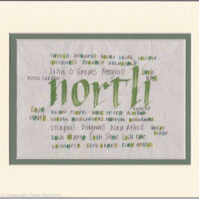 Scottish Calligraphy - Northern Scotland placenames