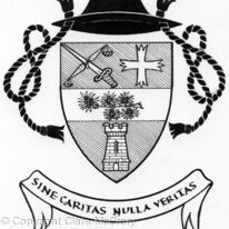 Arms of Rev Peter Geoffrey Green - b/w line drawing