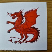 Red Dragon greeting card