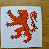 Lion Rampant greetings card