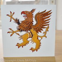 Griffin greetings card