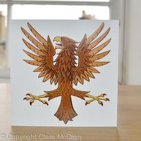 Eagle greetings card