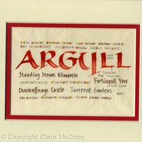 Argyll calligraphy