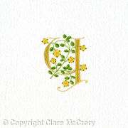 Letter Y with yellow heraldic roses