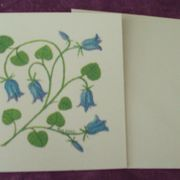 Bluebell card printed blank inside.