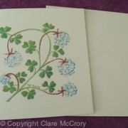 Clover card floral card birthday card