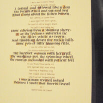 Original Calligraphy Harris Tweed poem