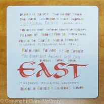 East of Scotland Placemat calligraphy design print