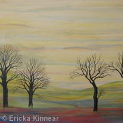 Trees with Yellow Sky (Sunrise)