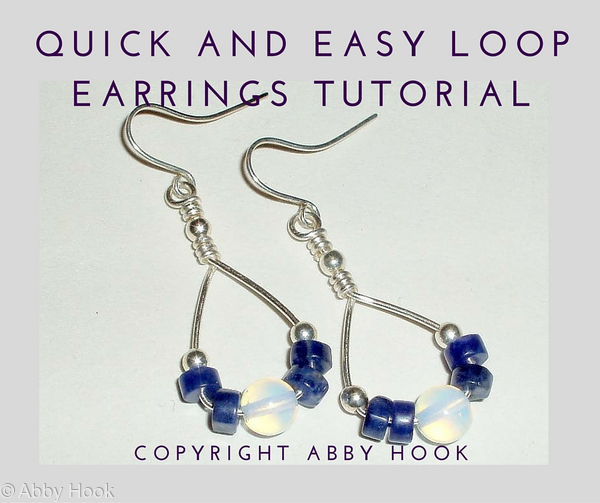 Quick and easy Loop Earrings Tutorial