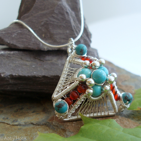 Turquoise Pyramid Pendant