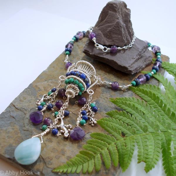 A Splash of colour - Aquarius necklace