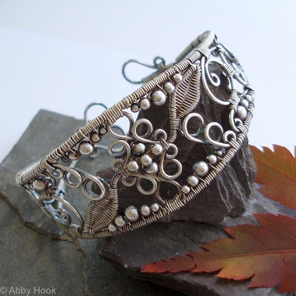 Lace - Filigree Inspired cuff - Silver