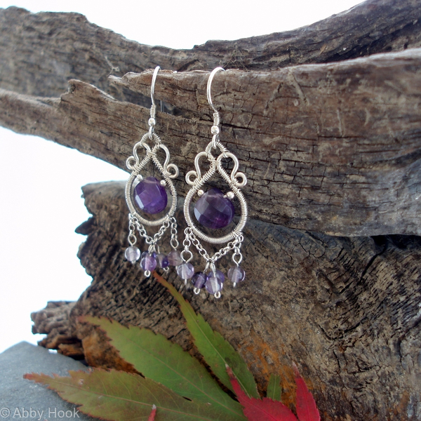 Eastern Charm Earrings - Amethyst
