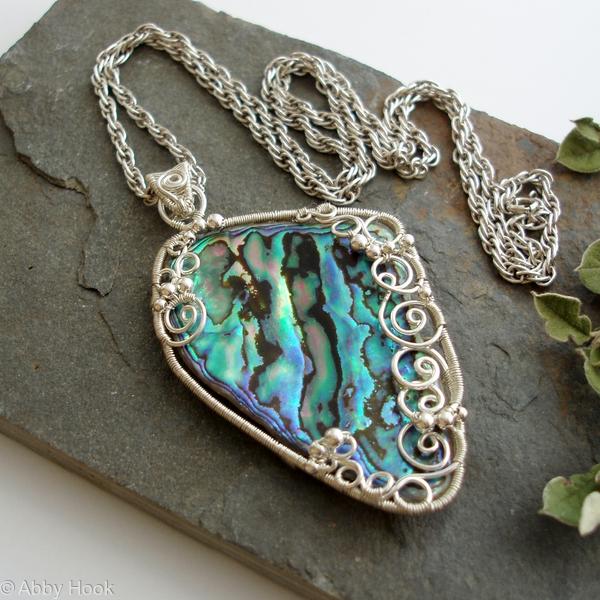 Poseidon - Under the Sea Necklace - Paua Shell